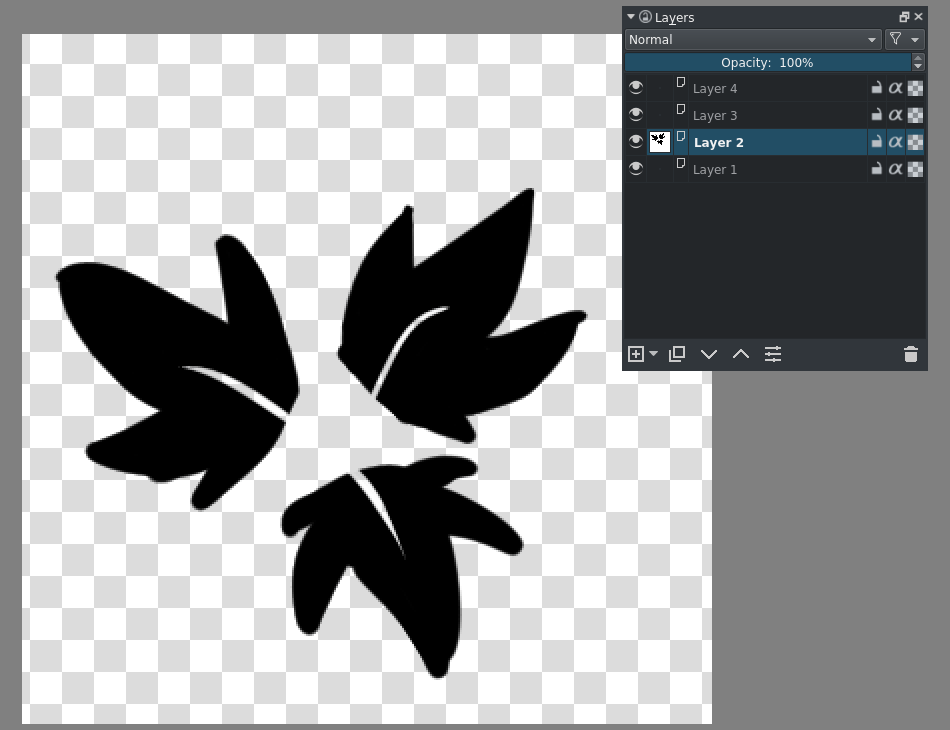 Krita Animated brush tip layer setup.