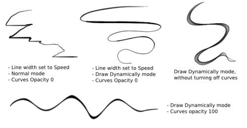 Curve Brush Engine — Krita Manual version 4 2 0