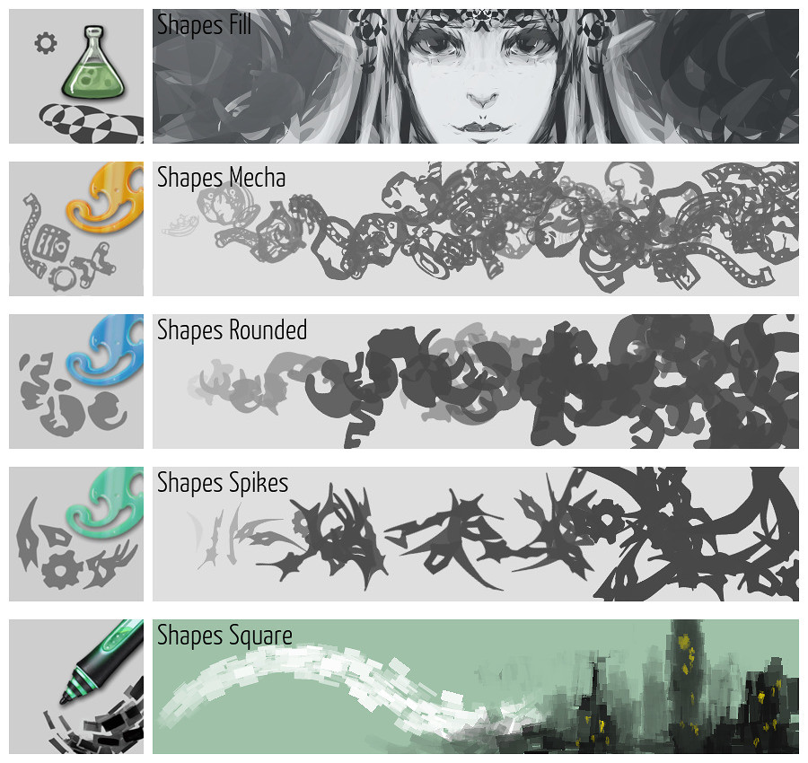 Krita 4 Preset Bundle Overview — Krita Manual version 4 2 0