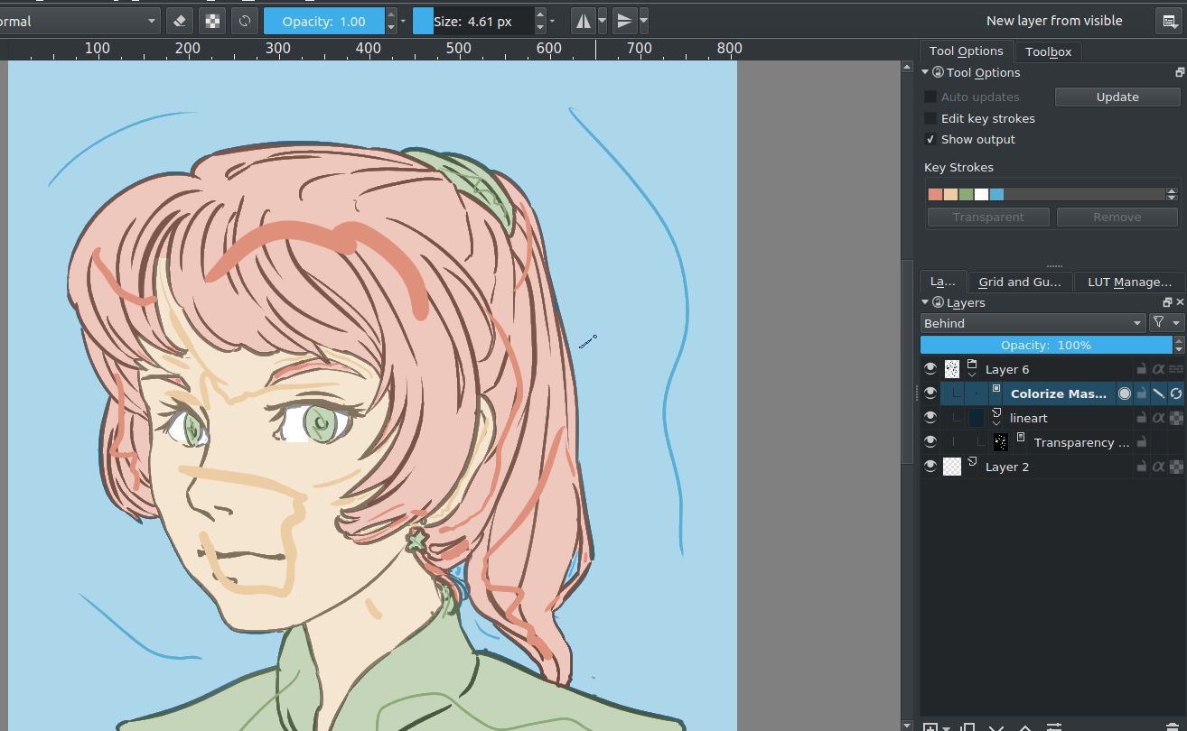 Coloring with colorize mask.