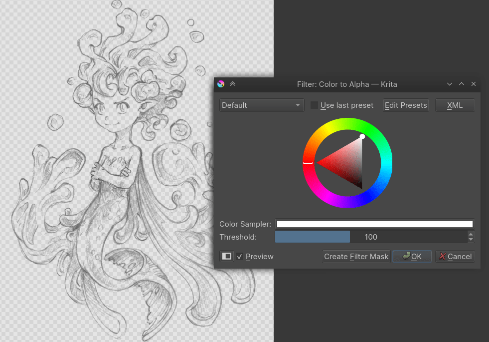 Images krita color to alpha